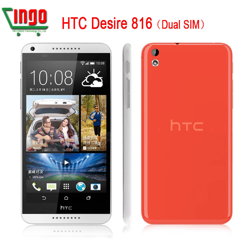 "HTC Desire 816 Original HTC 816W GSM 3GDual SimAndroid Quad-core Mobile Phone 5.5"" WIFI GPS 8GB unlocked smartphone freeshipping(China (Mainland))"