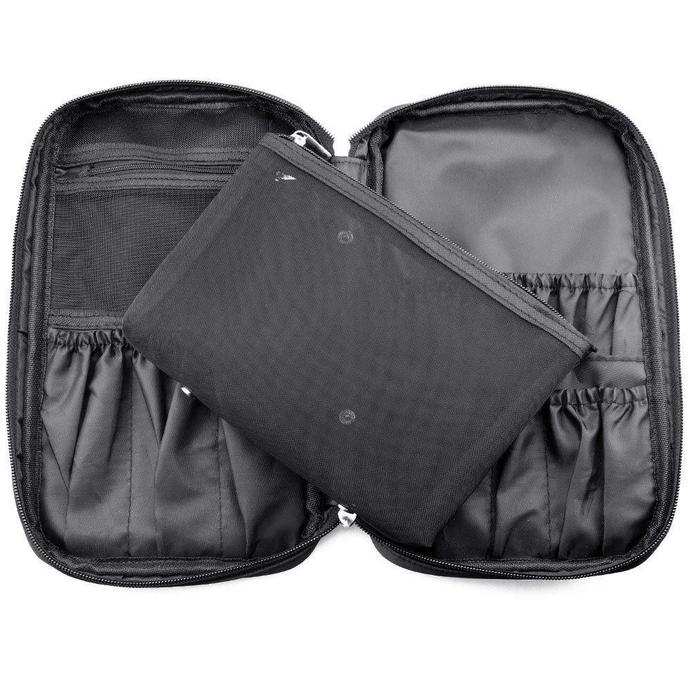 Fashion men's women cosmetic wash toiletry handbag travel Hanging bag makeup brush portable organizador large tote kit case(China (Mainland))