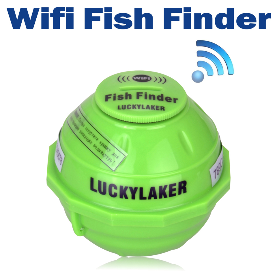 Lucky ff916 wifi wireless fish finder russian sonar for Wifi fish finder