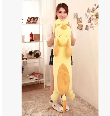 huge 120cm light yellow lying dog plush toy pillow dog doll throw pillow originality birthday gift w5247<br><br>Aliexpress