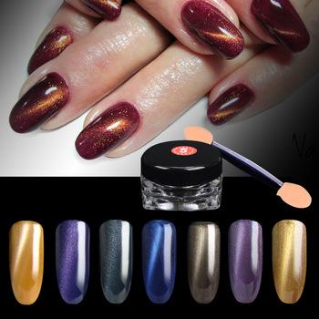 Hot 1g/box 3D Effect Cat Eye Magnet Powder Dust UV Gel Polish Environmental Magic Mirror Nail Art Glitter Pigment DIY Nail Tools
