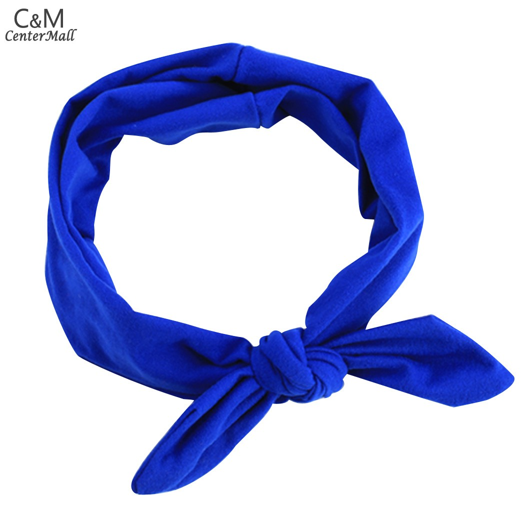 Cute Lovely Women Ladies Baby Girl Bow Elastic Stretch Wide Head Band Plain Hair Band Headbands Hair Accessories 36(China (Mainland))