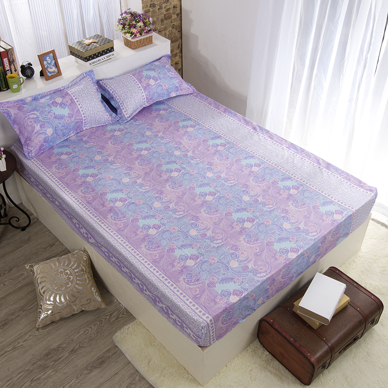 Free shipping hot sale cotton reactive fitted sheet set for Full bedroom furniture sets on sale
