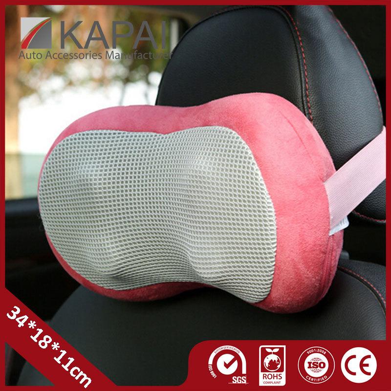 Car Pillow Sky Blue Pink 12V DC Car Office Seat Chair Massage Pillow Office 12V DC Auto Pillow Car Safety Belt Protect Shoulder(China (Mainland))