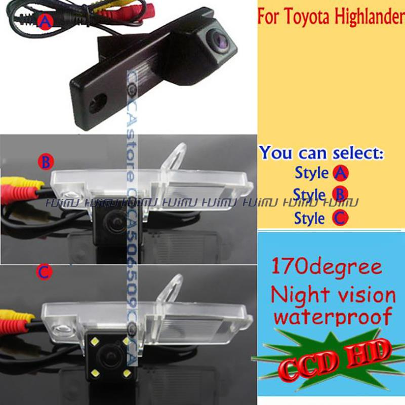 wireless wire LED CCD HD Car Rear View Camera parking assist for Toyota Highlander Hover G3 Coolbear Hiace /Kluger/Lexus RX300(China (Mainland))