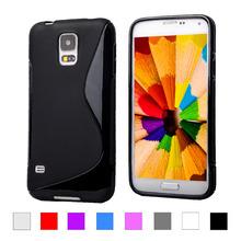 S5 S линии Skiding гель тпу тонкий мягкий чехол для Samsung Galaxy S5 S 5 с . в . I9600 мобильный телефон резина силиконовая сумки задняя крышка