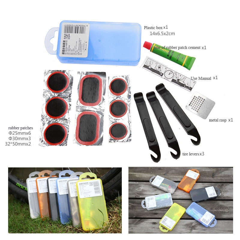 Cycling Bike Bicycle Flat Tire Repair Kit Tools Set Patch Rubber Portable Fetal Sit Box Best Quality - Sameday919-2 store