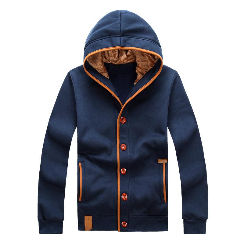 M XXXL Cardigan Long Sleeve Hoddies Men Slim Fit 2015 Korean Hoodie Buttons New Autumn Sports
