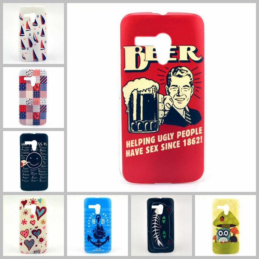 Luxury Cute Cartoon Painted Case Motorola Moto G Phone capa New celular Pictures Back Cover Vintage Style Painting Fundas - SHENZHEN LUXURY ONLY CO.,LTD store