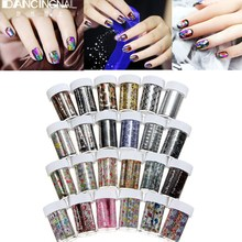 1 Roll 24 Styles Nail Art Tips Foil Wrap Transfer Paper Glitter Sticker Decal Decoration DIY Manicure Design Accessories - Dancingnail Brand Online store