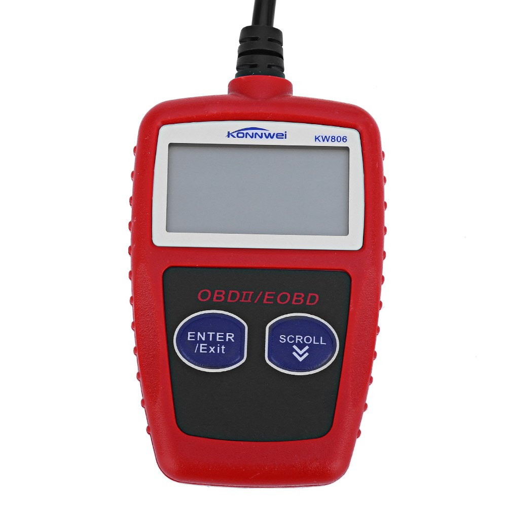 KONNWEI KW806 Car Scanner EOBD OBD2 OBDII Diagnostic Tool Live Code Reader with Multilingual Menu Large Backlit LCD Screen Hot(China (Mainland))