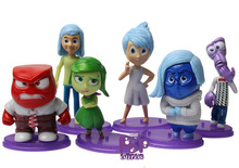 High Quality PVC Inside Out Action Figures Classic Cute Anime Inside Out Toys For Kids Gift 6pcs/lot