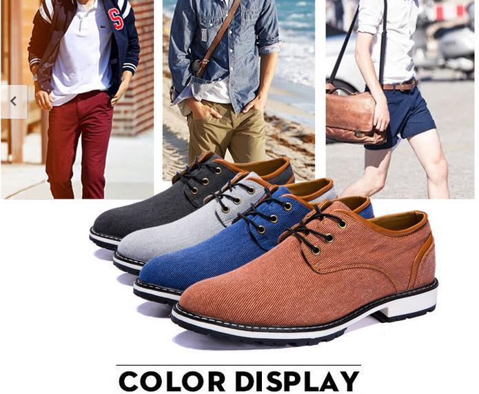2015 Fashion Men Oxford Shoes Breathable Casual Suede Flats Linen Lace-up Moccasins Zapatos Hombre Male - Guang Zhou King Store store