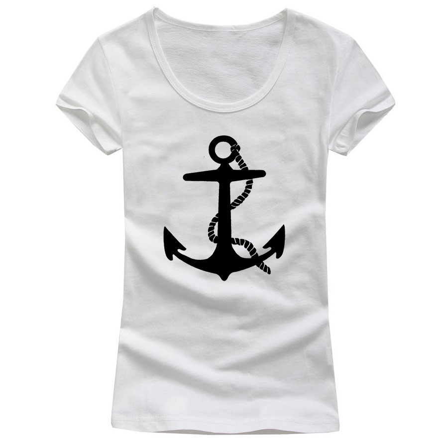 Personalized sexy low cut logo design women anchor bear t for T shirt logos and design