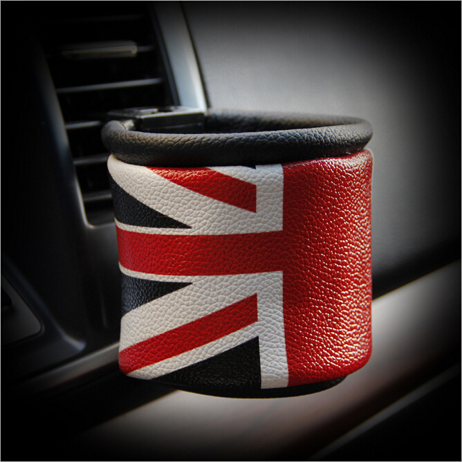 Universal The Union Flag Leather Car Outlet Storage Bag Phone Holder Pocket Organizer High Quality(China (Mainland))