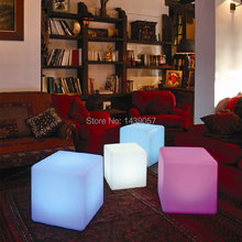 Magic led illuminated furniture! waterproof outdoor 30*30*30CM led cube chair ,bar stools,wedding,party decoration lighting