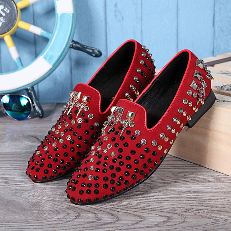 christian louboutin men sneakers - Online Get Cheap Studded Loafers for Men -Aliexpress.com | Alibaba ...