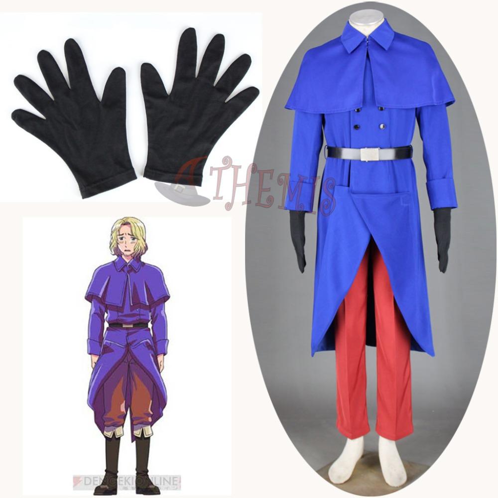 Здесь можно купить  Athemis Blue Coat Anime Axis Powers Hetalia Cosplay Costumes Cool France Man Suit Long Blue Coat Outfits Halloween  Одежда и аксессуары