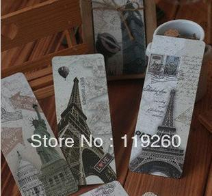 Free Shipping world amorous feelings restoring ancient ways bookmarks paper bookmark on 30 pieces into the Eiffel Tower