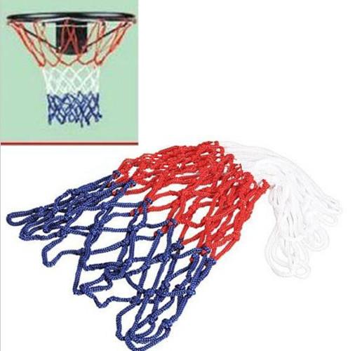 New 2015 Red White Blue Basketball Net Nylon Hoop Goal Rim Mesh Net High Quality(China (Mainland))