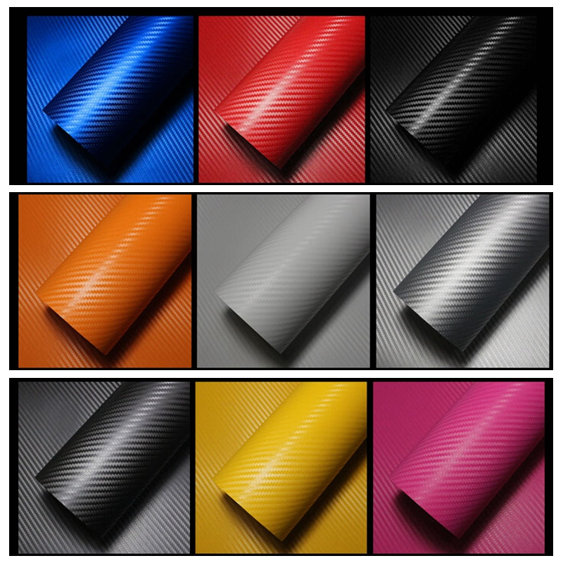 Voiture corps Autocollants Stickers 3D En Fiber De Carbone Vinyle Wrap Feuille Rouleau Film Moto protecteur 30x127 cm pour volkswagen vw golf 4 5 6(China (Mainland))