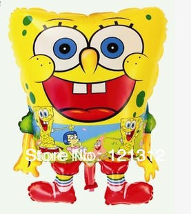 Free shipping!Wholesale aluminum film balloon cartoon balloon space ball SpongeBob foil balloons toys for children(China (Mainland))