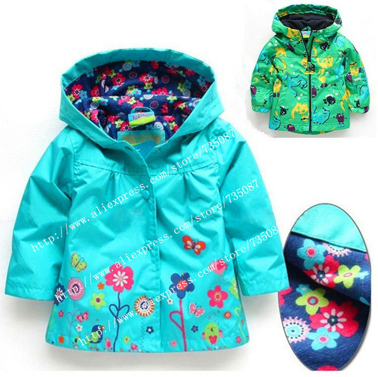 Girl's Fashion jackets Girls Outerwear & Coats blazer Trench Spring Autumn Girls Hoodies Jackets, Baby raincoat Children's Coat(China (Mainland))