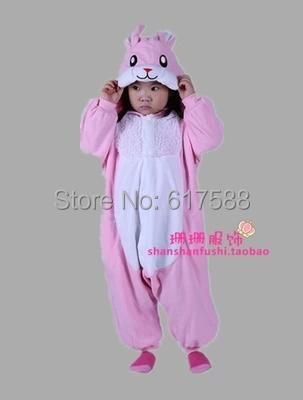 Rabbit Halloween Dress Party Cosplay Costume Winter Pajamas Girl Boy Baby Romper Fleece Animal Onesie For Kid Children(China (Mainland))