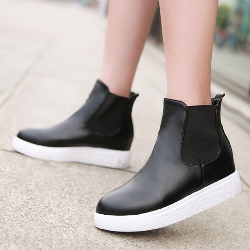 Simple Womens Chelsea Block Heel Riding Biker Metal Zip Ladies Flat Ankle Boots Size | EBay