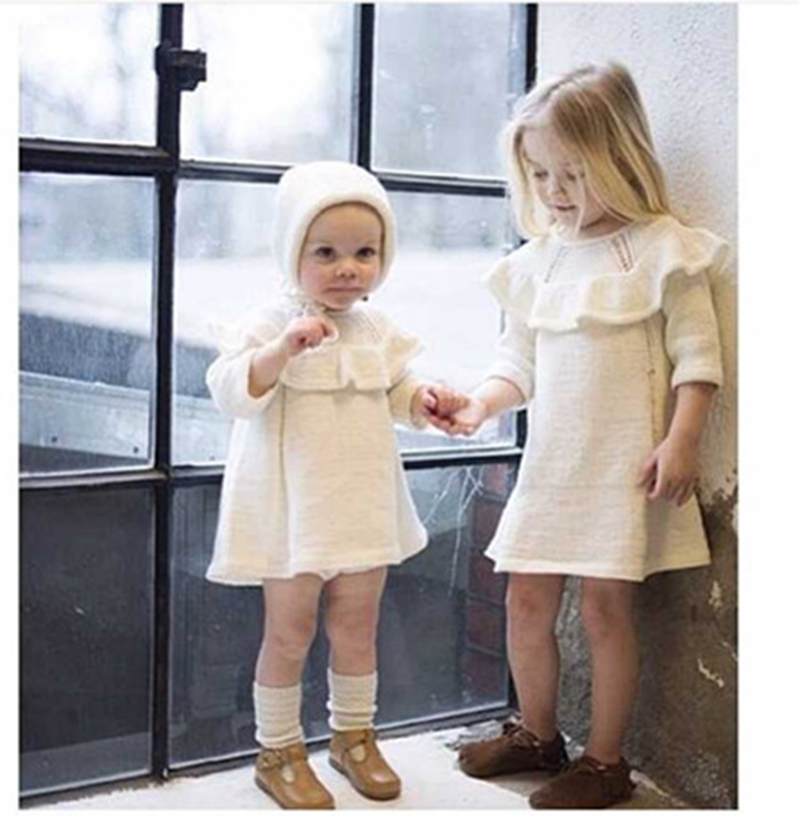 White Sweater Dress For Baby Girl 22