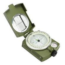 Buy Professional Military Camping Hiking Multifunction Optical Sighting Metal Compass Pocket Prismatic Luminous Compass for $8.53 in AliExpress store