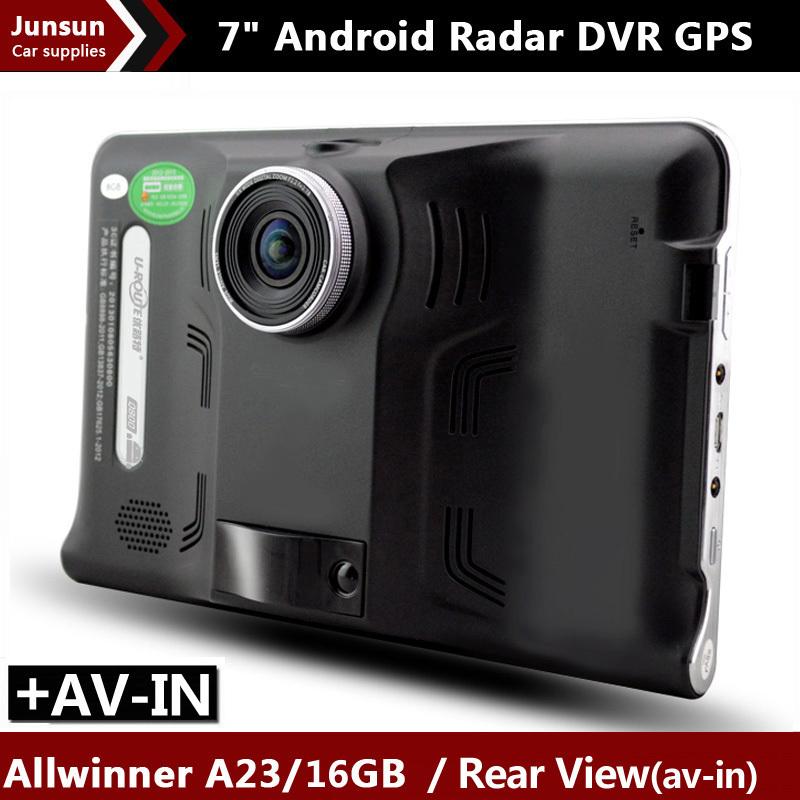 7 inch Car GPS Navigation Android AVIN 1080P DVR Recorder Radar Detector Truck vehicle gps WIFI 16GB Navitel 9.5 or Europe map(China (Mainland))