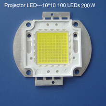 1pcs 200W LED lamp beads, DIY projector dedicated high-power integrated and bridgelux chips 45MIL