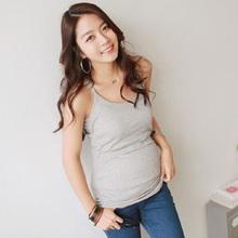 2016 Summer font b Maternity b font tank tops Pregnant modal T Shirt Women s Strappy