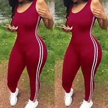 2018 Sexy Mujer Deporte mono gimnasio Yoga correr Fitness atlético sin mangas Leggings pantalones mono verano chándal(China)