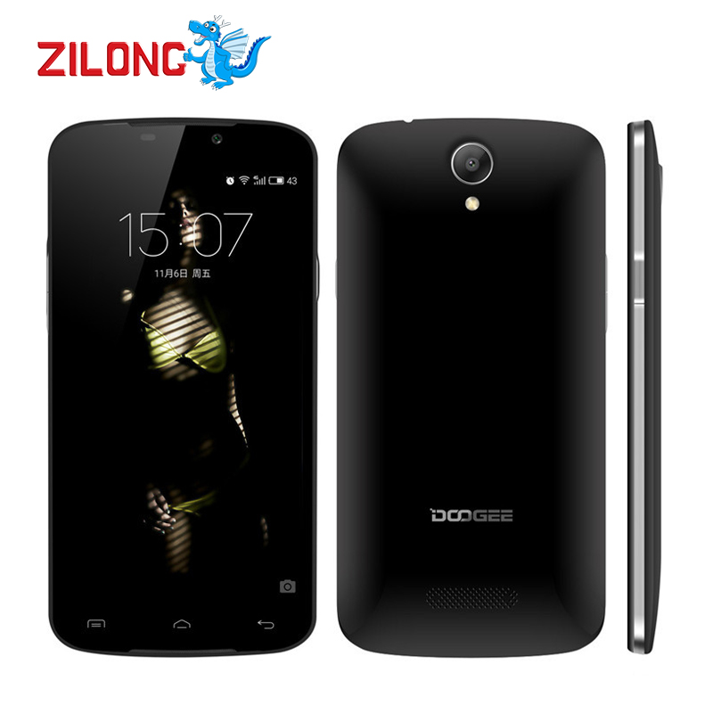 """New Arrival Original Doogee X6 5.5"""" HD 1280x720 Cell Phones Android 5.1 Quad Core MTK6580 1GB RAM 8GB ROM 3000mAH Mobile Phone(China (Mainland))"""