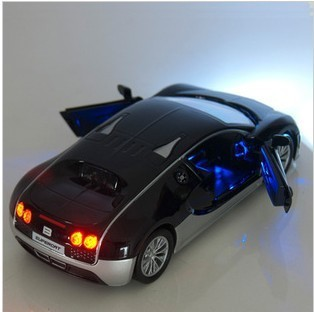 Christmas gift !!!!Alloy car model toy vehicle simulation toys for children 1:32 Bugatti Veyron X3 Color Pull Back