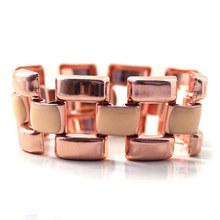 Women Rose Gold Plated Link Chain Wide Geometric Figure Hot New 2015 Fashion Bracelets Bracelet Femme