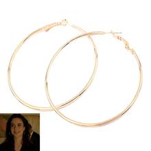 18K gold earrings fashion woman hot big iron wire circle earrings 97694