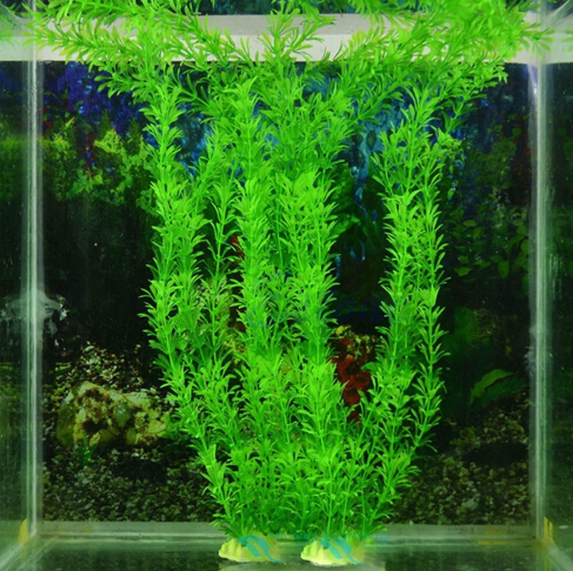 40CM Artificial Green Plant Grass for Fish Tank Aquarium Ornament Decor Plastic(China (Mainland))