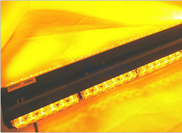 Free Shipping Double Side 6*6 36Long LED All Amber Yellow Car Truck LED Emergency Strobe Scanner LightBar Lamp Warning Lights(China (Mainland))