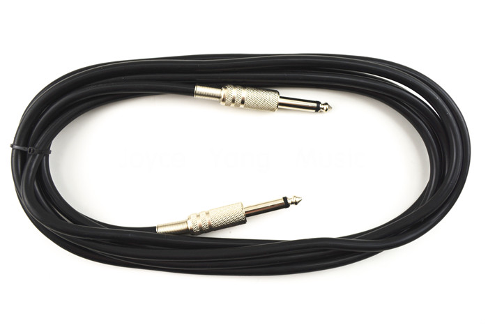 10ft Electric Guitar Cable Musical Instrument Cable Low Noise Shielded Black Free Shipping Wholesales(China (Mainland))
