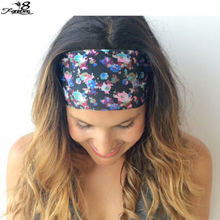 1 pcs Bohemia Women Lady Wide Headband Bandanas Print Floral Flower Hairband Head Wraps Hair Band Accessories(China (Mainland))