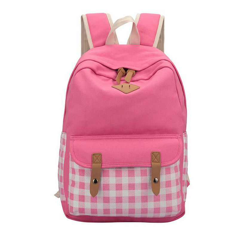 Luggage & Bags Special Purpose Bags School Bags Plaid Zipper School Backpacks 8807(China (Mainland))