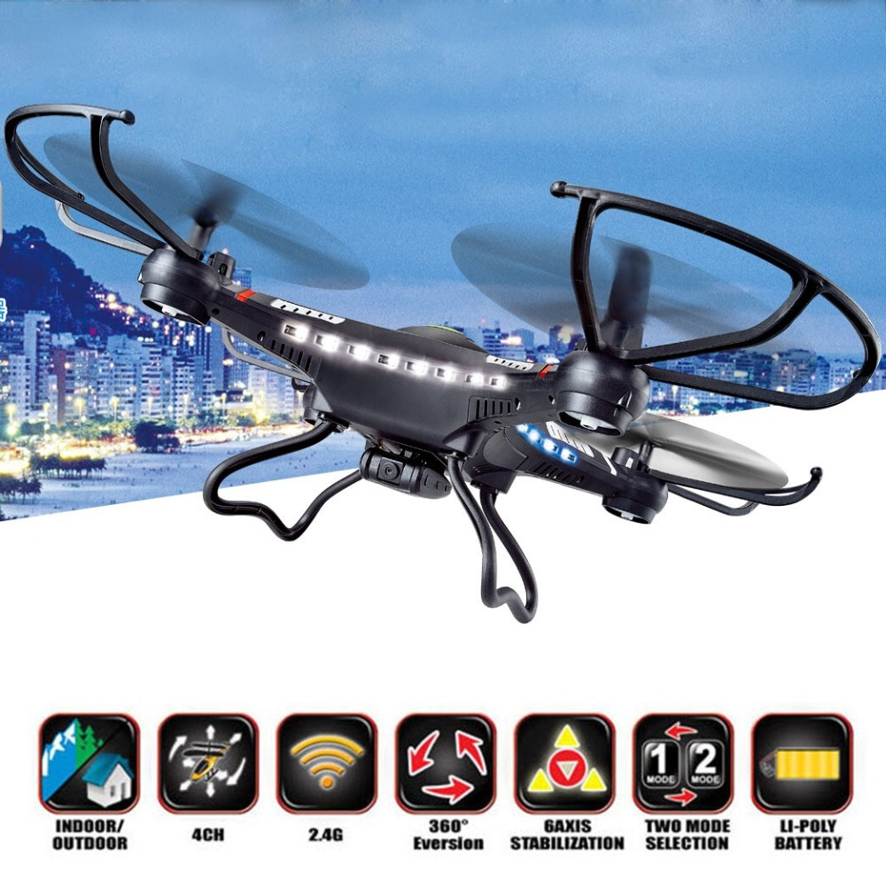 RC Drone DFD 31CM JJRC H8C 2.4G Helicopter 4-Axis GYRO Quadcopter With LED Light H8C-2 with 2MP Camera or H8C-1 without Camera(China (Mainland))
