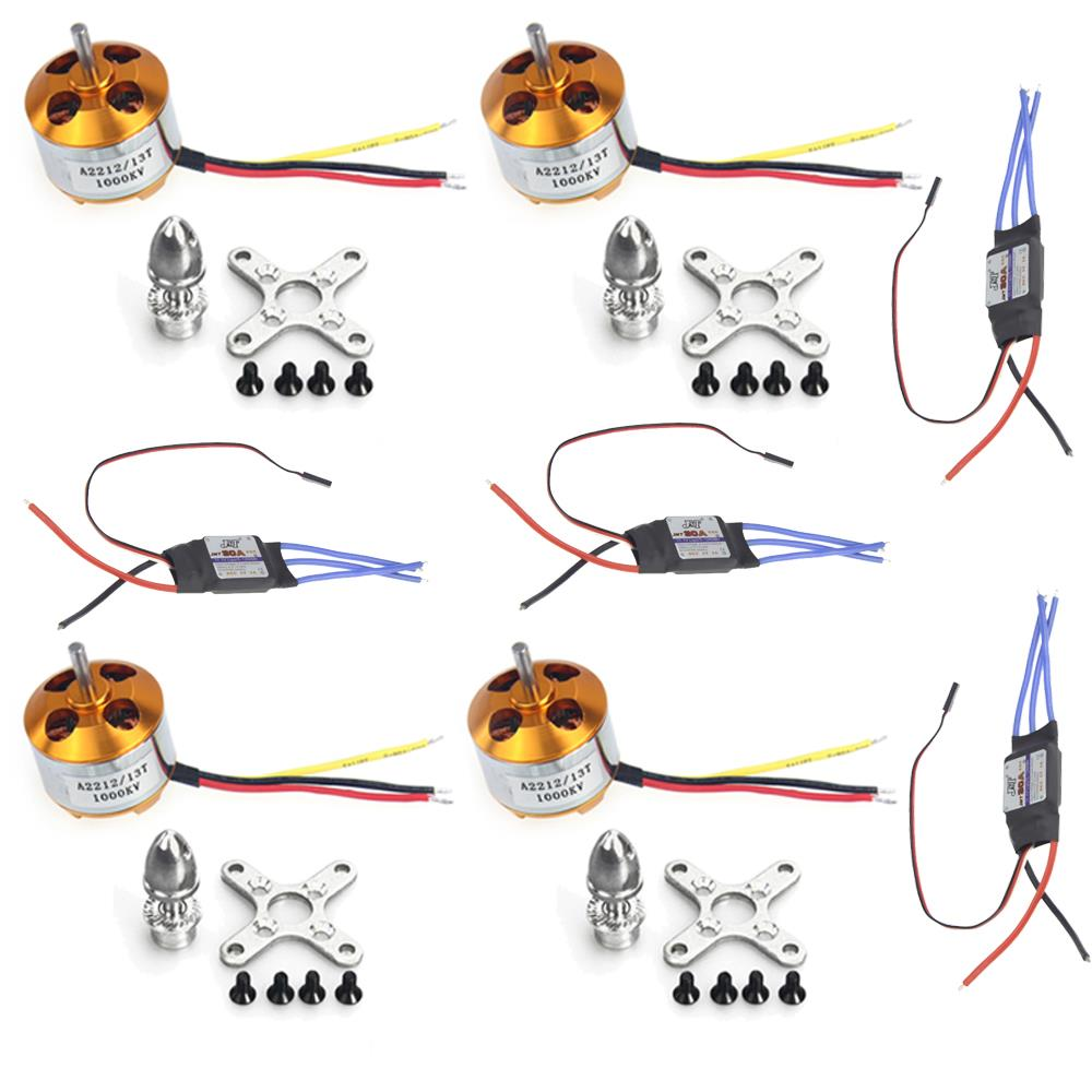 F02015-A 4Sets/lot A2212 1000KV Brushless Outrunner Motor + 30A Speed Controller ESC ,RC Aircraft 4 Axis Quadcopter UFO+Freeship