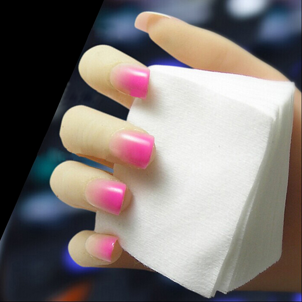 1800pcs Acrylic UV Gel Tips Soft Makeup Cotton Nail Polish Remover Cleaner Makeup Wipes Pads absorbent sanitary cotton Wholesale(China (Mainland))