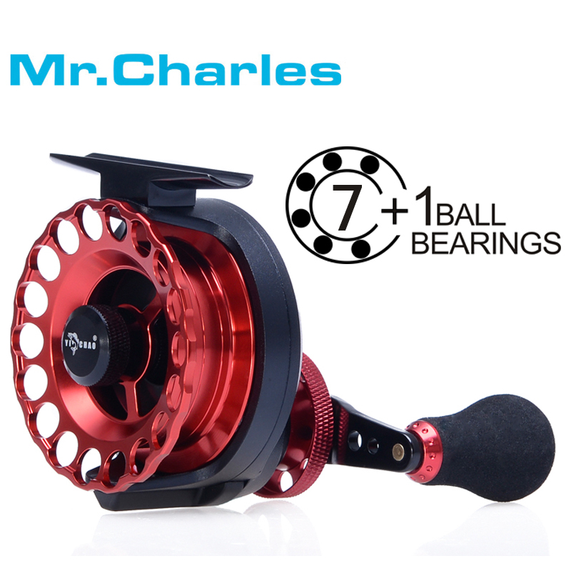 Mr.Charles New KKD65 Gear ratio 3.6:1 Aluminum Front-end Fishing Left/Right Hand Fly Fishing Reel Raft Ice Fishing Reel(China (Mainland))