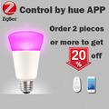 270 Degree illumination E26 E27 9W ZigBee Smart Bulb Compatible With Hue bridge1 0 and 2