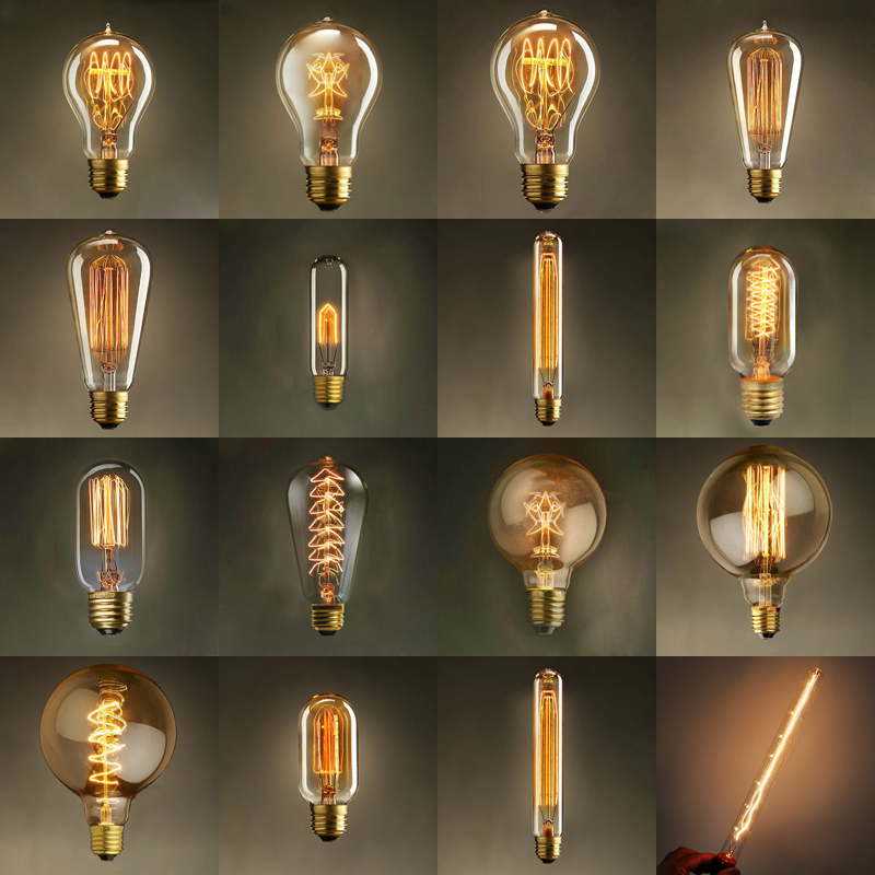 Vintage edison bulb light lamp ac 110v 220v e27 vintage for Decoration lamps